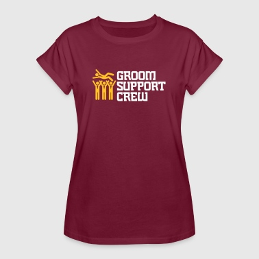 Support Team Of The Groom - Women's Oversize T-Shirt
