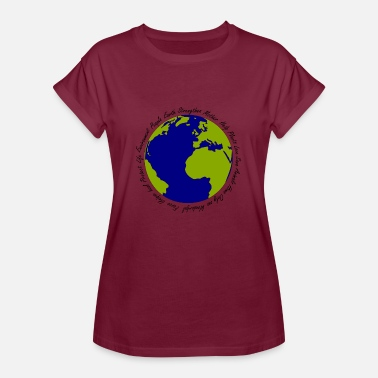 Earth Hour Earth - Women's Oversize T-Shirt