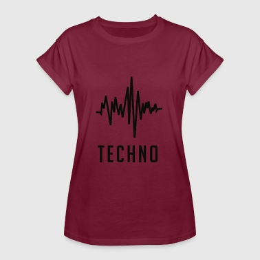 Onde sonore Techno - T-shirt oversize Femme