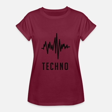 Ondes Sonores Onde sonore Techno - T-shirt oversize Femme