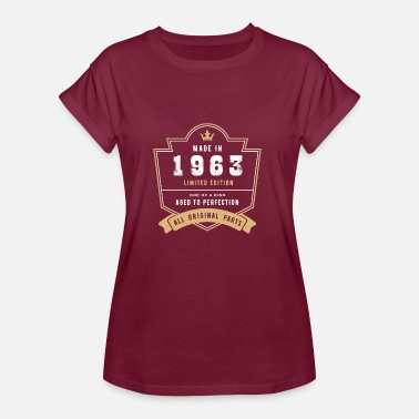 Made In 1963 All Original Parts Made In 1963 Limited Edition All Original Parts - Women's Oversize T-Shirt