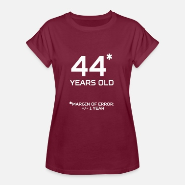 44 Year Old 44 Years Old Margin 1 Year - Women's Oversize T-Shirt