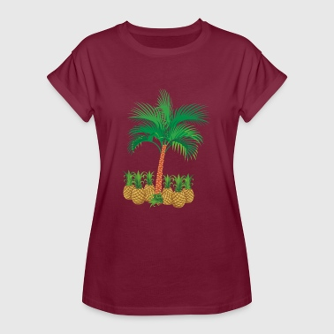 Tropical Christmas Tropical pineapple palm tree gift gift tropics - Women's Oversize T-Shirt