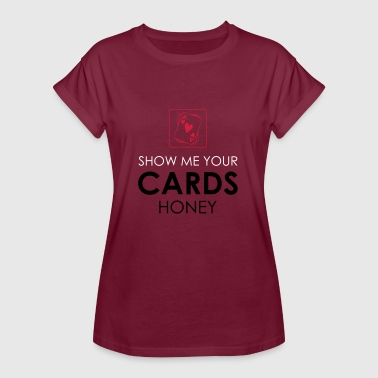 Gift Card Poker Cards Card Game Texas Holdem Gift - Women's Oversize T-Shirt