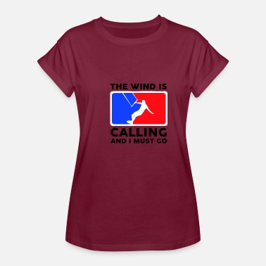Red Kite kite blue white red - Women's Oversize T-Shirt