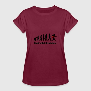rockandroll Evolution , Rock , Gitarre - Frauen Oversize T-Shirt