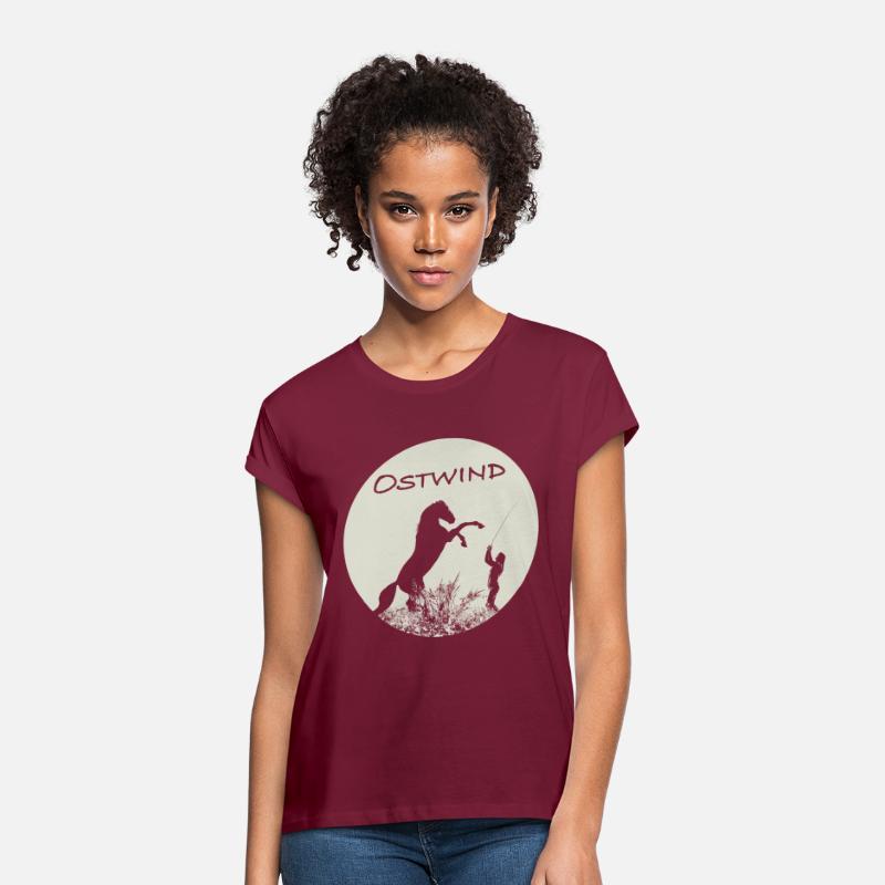 Ostwind Aris Ankunft Mika und Ostwind Mond Frauen Oversize T-Shirt von