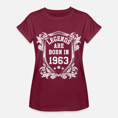 Born 1963 Legends are born in 1963 - Women's Oversize T-Shirt