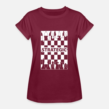 Strategie strategie wite - Vrouwen oversize T-shirt