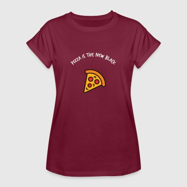 Pizza is the new Black donuts eat fast food - Women's Oversize T-Shirt