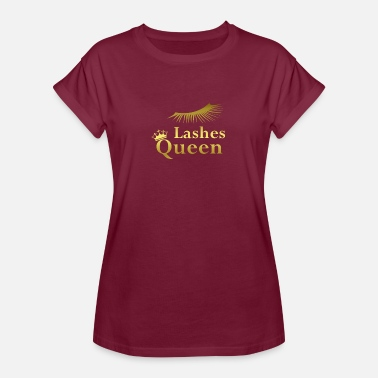 Lashes Lashes Queen gold - Frauen Oversize T-Shirt