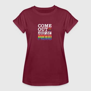 Coming out Stolz - Frauen Oversize T-Shirt