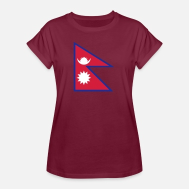 Rupee National Flag Of Nepal - Women's Oversize T-Shirt