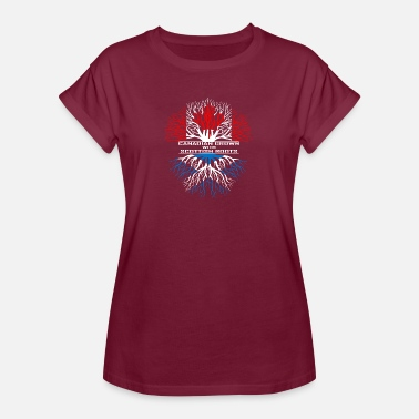 Scottish Roots Canada gift maple flag Vancouver pride heritage - Women's Oversize T-Shirt