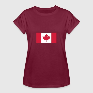 Reds Canada Flag National Flag Of Canada - Women's Oversize T-Shirt