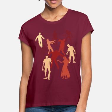 27a2bc9b Offentlig hendelse Halloween Zombie Walk 2 - Oversize T-skjorte for kvinner