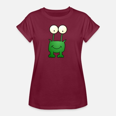 Kikker Cartoon kikker cartoon - Vrouwen oversize T-shirt