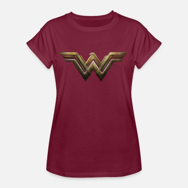 Bros Wonder Woman Logo - Dame oversize T-shirt