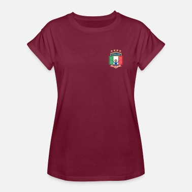 Italie Humour Maillot Italie Soccer Jersey Italia 2018 football - T-shirt oversize Femme