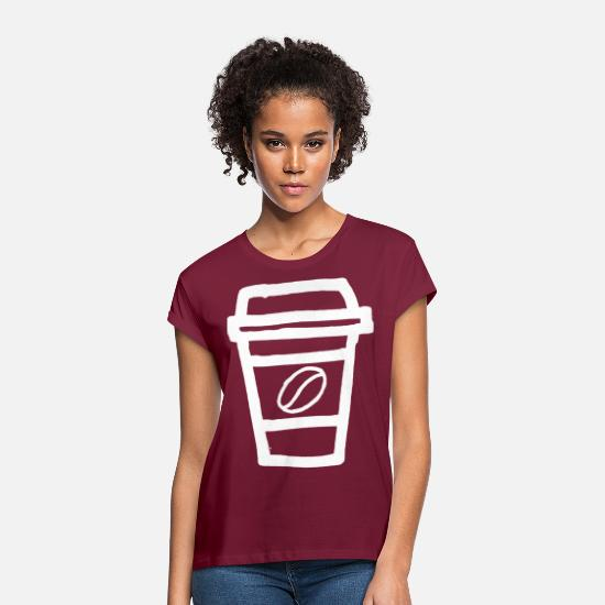 Coffee Bean T-Shirts - Coffee coffee mug happy coffee love latte - Women's Loose Fit T-Shirt bordeaux