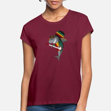 Rasta Reggae Shark - Women's Loose Fit T-Shirt