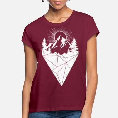 Sun mountain sun grunge white - Women's Loose Fit T-Shirt