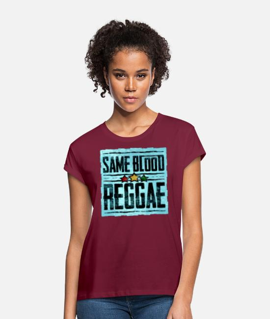 Rastafari T-Shirts - same blood reggae - Frauen Oversize T-Shirt Bordeaux