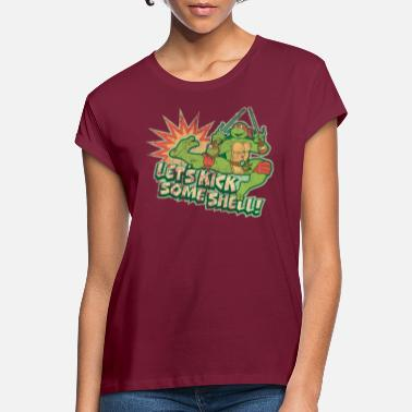 TMNT Turtles Raphael Let's Kick Some Shell - Women's Loose Fit T-Shirt
