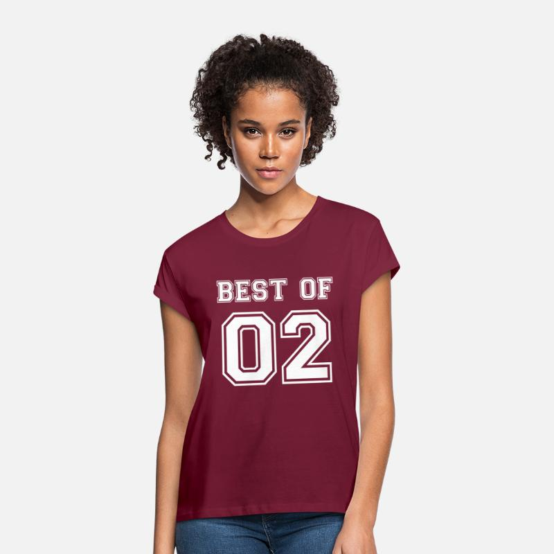 Birthday T-Shirts - Best of 2002 birthday birth year saying 17 year - Women's Loose Fit T-Shirt bordeaux