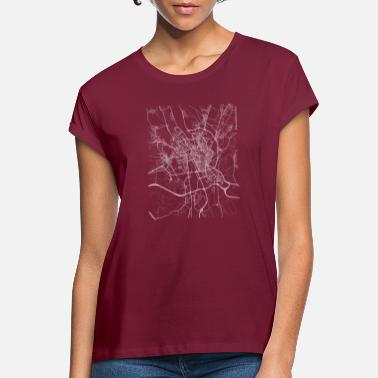 León Minimal León city map and streets - Women's Loose Fit T-Shirt