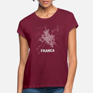 Franca Franca city map and streets - Vrouwen oversized T-Shirt