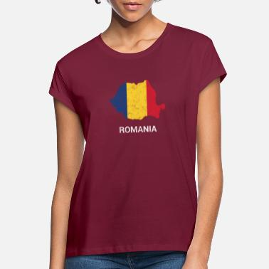 Romania Romania country map & flag - Women's Loose Fit T-Shirt