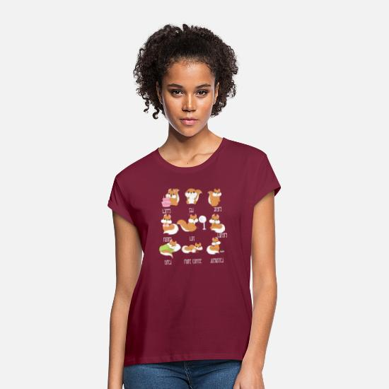 Squirrel T-Shirts - Squirrel - emotions - squirrel - gift - Women's Loose Fit T-Shirt bordeaux