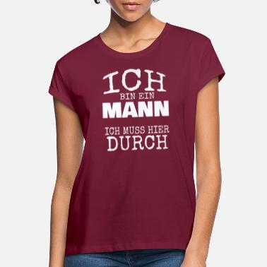 Manner Mann - Frauen Oversize T-Shirt