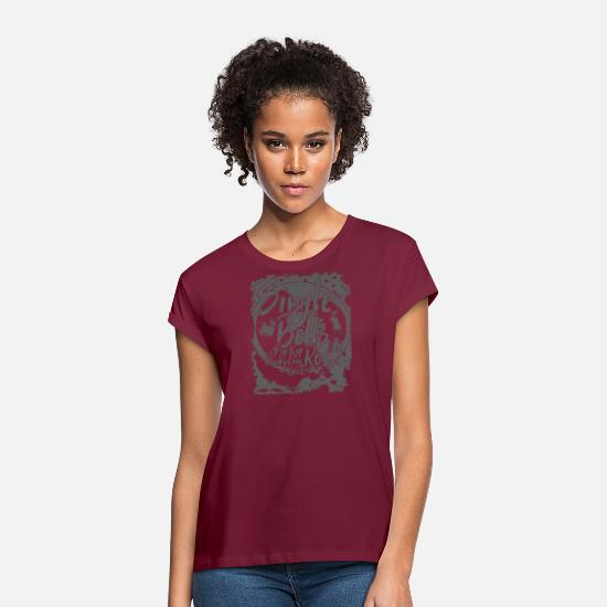 Single T-shirts - Seul Bells Rock - T-shirt oversize Femme bordeaux