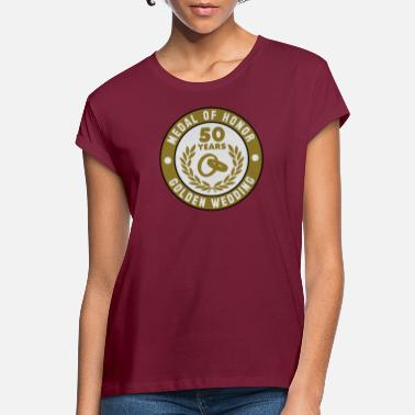 Medal Of Honor Medal Of Honor 50 GOUDEN BRUILOFT 3C - Vrouwen oversized T-Shirt