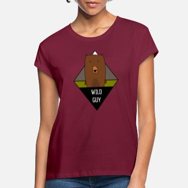 Wild Guy Wild Guy Bear Illustration - Frauen Oversize T-Shirt
