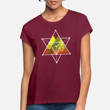 Background Star Tetrahedron Graphic Design - Women's Loose Fit T-Shirt