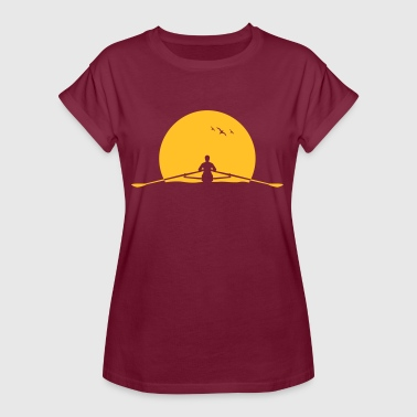 Rowing sunset rower rowing skulls - Women's Oversize T-Shirt