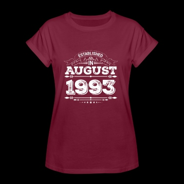 Established in August 1993 - Frauen Oversize T-Shirt
