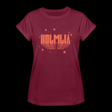 COSMIC HOLMLIA RED - Women's Oversize T-Shirt