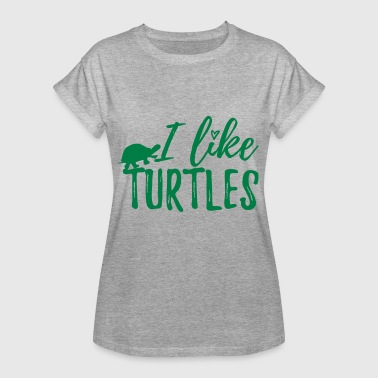 I like Turtles v2 - Frauen Oversize T-Shirt