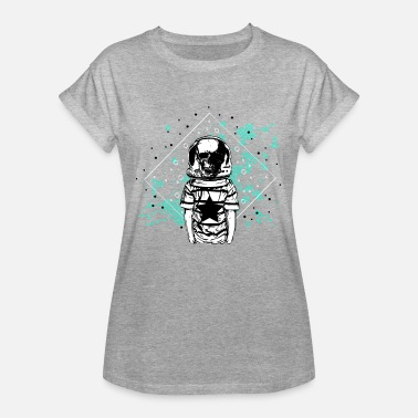 Astronaut Skull Space Travel Gave T-Shirt - Dame oversize T-shirt