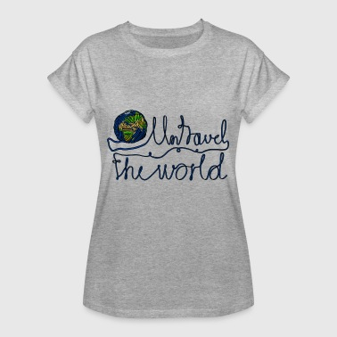 Backpacker Puns Travel around the world Pun world trip Roadtrip holiday - Women's Oversize T-Shirt