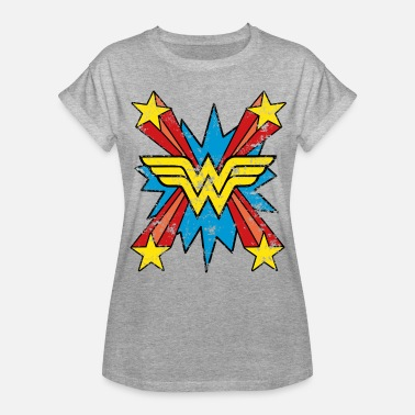 Muttertag DC Comics Wonder Woman Logo Sterne Comic - Frauen Oversize T-Shirt