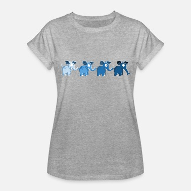 Elephant Elephant Family - Elephants - Cartoon - Gift - Women's Oversize T-Shirt