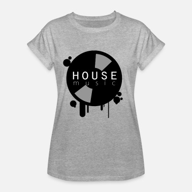 House Record House Music Party Shirt Vinyl Record - Women's Oversize T-Shirt
