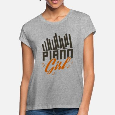 Cute Piano Girl Pianist And Girly Musician Gift - Women's Loose Fit T-Shirt