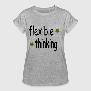 Flexibility flexible thinking black - Women's Oversize T-Shirt