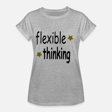 Flexible flexible thinking black - Women's Oversize T-Shirt